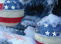 Patriotic Ornaments Christmas Greeting Cards